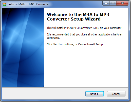 Install M4A to MP3 Converter